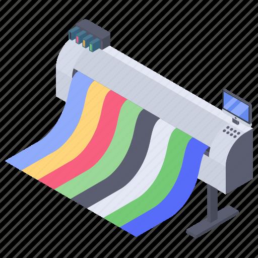 plotter drive, plotter machine, plotter printer, printing device, technology icon