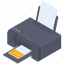colored copy, colored graphic machine, colored polygraphy, colored printer, photocopier icon