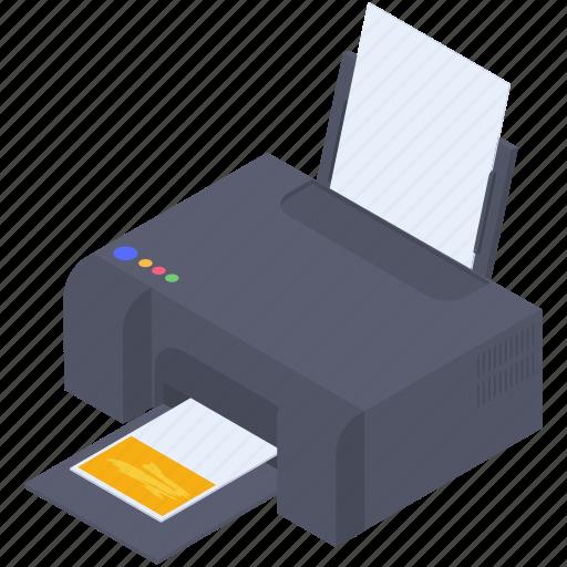 colored copy, colored graphic machine, colored polygraphy, colored printer, photocopier icon