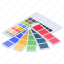 color catalogue, color palette, color swatch, edit color, pantone icon
