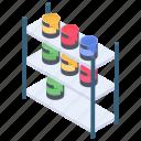 bucket colors, dye colors, paint colors, paint jar, poster colors icon