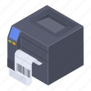 barcode printer, guardar printer, output device, printer, scanner icon
