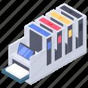 copying machine, hard copy machine, offset machine, offset printing machine, peripherals icon
