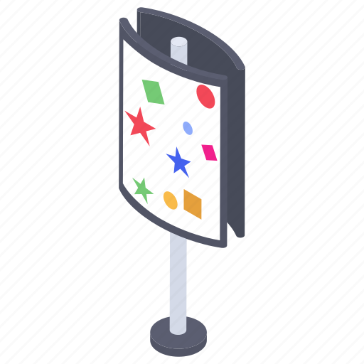 advertising brand, advertising stand, banner stand, promo stand, promotion stand icon
