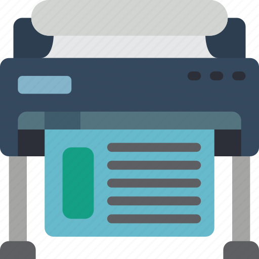 Plotter, print, printing icon - Download on Iconfinder