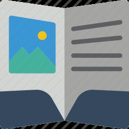 booklet, print, printing icon