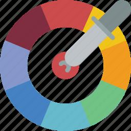 colour, picker, print, printing icon