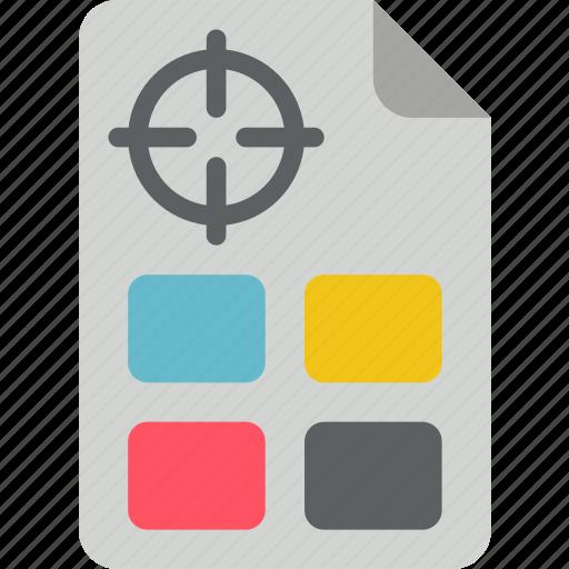 colour, print, printing, registration icon