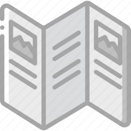 print, printing, trifold icon