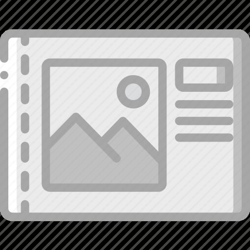 edge, left, print, printing icon