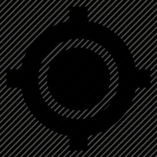 crosshair, focus, shooting target, target, target symbol icon