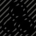 circle intersection, graphic design, venn diagram, overlap, overlapping circles