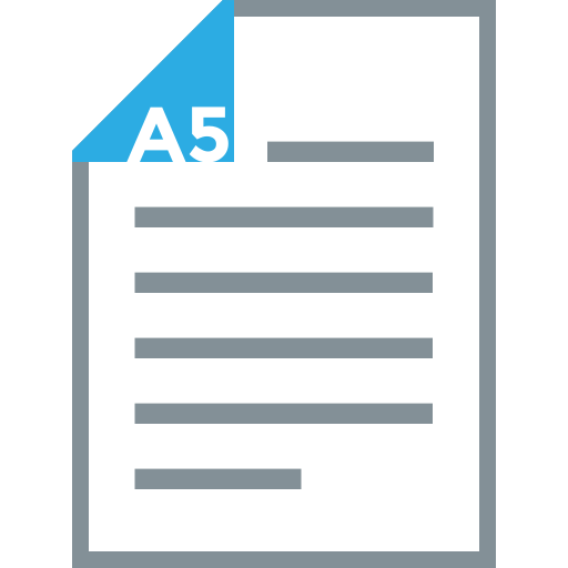 a5, document, page, paper, paper size, print, sheet icon