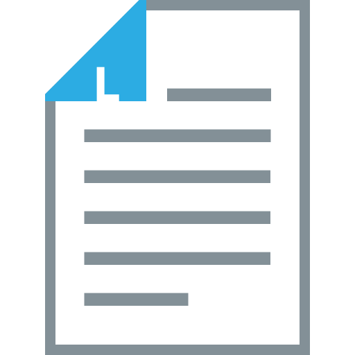 document, format, letter, page, paper size, sheet icon