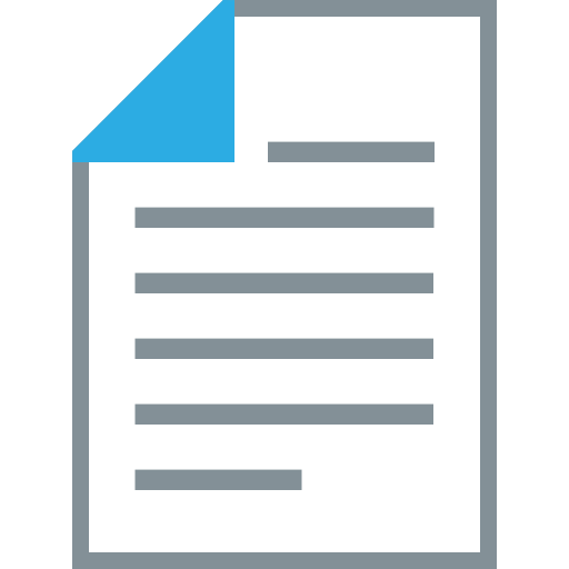 document, format, page, paper, paper size, sheet, single side print icon