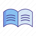 book, ebook, magazine, print, printing, publishing icon