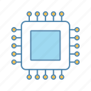 chip, core, cpu, microchip, microcircuit, microprocessor, processor icon
