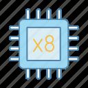 chip, cpu, eight core, microprocessor, multi-core, octa core, processor
