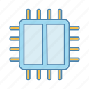 chip, cpu, dual, dual core, microchip, processor, x2 microprocessor icon
