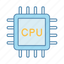 central, chip, cpu, microchip, processing, processor, unit icon