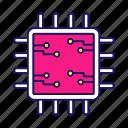 chip, circuit, cpu, microchip, microcircuit, microprocessor, processor icon