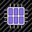 chip, cpu, hexa microprocessor, microchip, multi-core, processor, six core icon