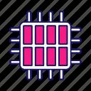 chip, cpu, eight core, microchip, microprocessor, multi-core, octa core icon