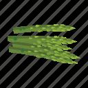 asparagus, cooking, fresh, side, vegetable, vegetarian, veggies icon