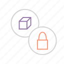 access, disable, lock, package, product, protection, unavaliable icon