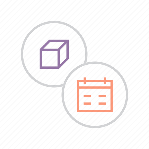 deadline, delivery, event, package, product, schedule, shipment icon