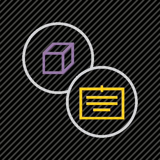 description, details, documentation, package, product, specification icon