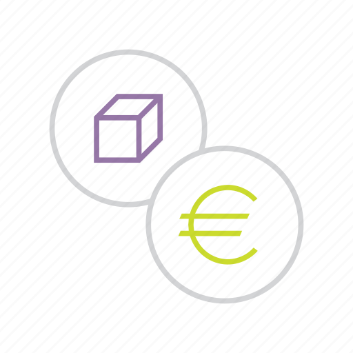 business, cost, euro, finance, price, product, trade icon
