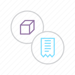 bill, invoice, package, product, purchase, shopping, statement icon