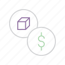 business, commerce, cost, dollar, finance, product, trade icon