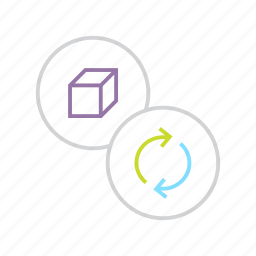 package, product, recycle, renew, renewable, sync icon