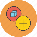add, create, include, new, package, product icon