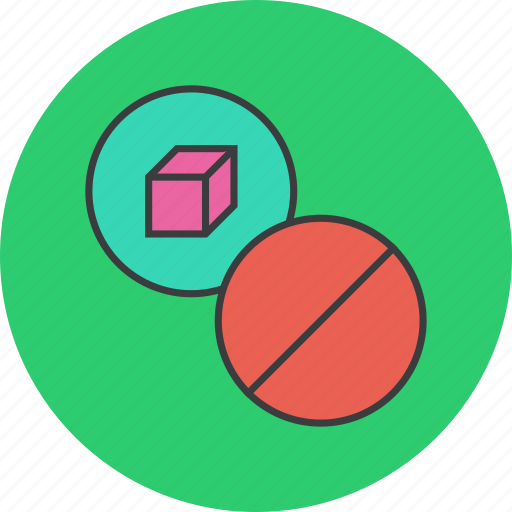 ban, block, cancel, package, product, prohibit, reject icon