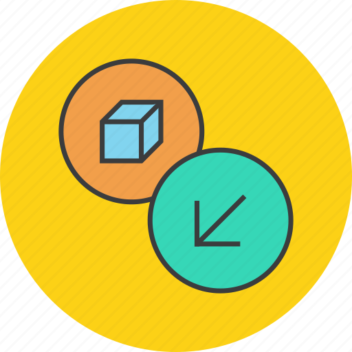 delivery, import, package, product, receive, shipping, shopping icon