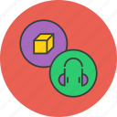 accessory, electronics, headphones, headset, multimedia, music, product icon