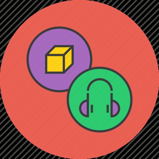 accessory, electronics, headphones, headset, multimedia, music, product icon