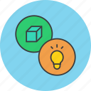 bulb, discovery, idea, innovation, invention, light, product icon