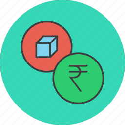 cost, finance, indian, price, product, rupee, shopping icon