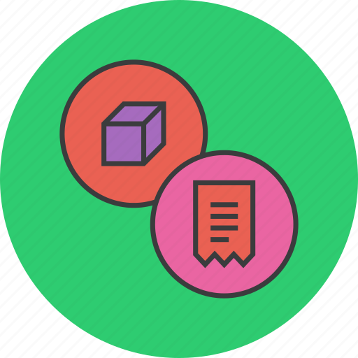 bill, ecommerce, invoice, package, product, shopping, trade icon