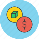 cost, dollar, financial, listing, price, product, trade icon