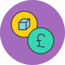 cost, pound, price, product, shopping, value icon
