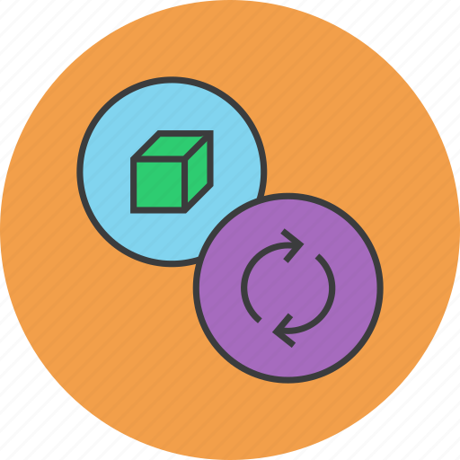 package, product, recycle, renew, renewable, sync, update icon