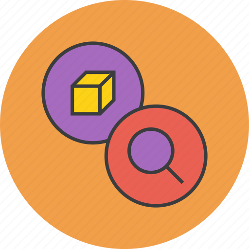 find, identify, locate, product, search, view, zoom icon