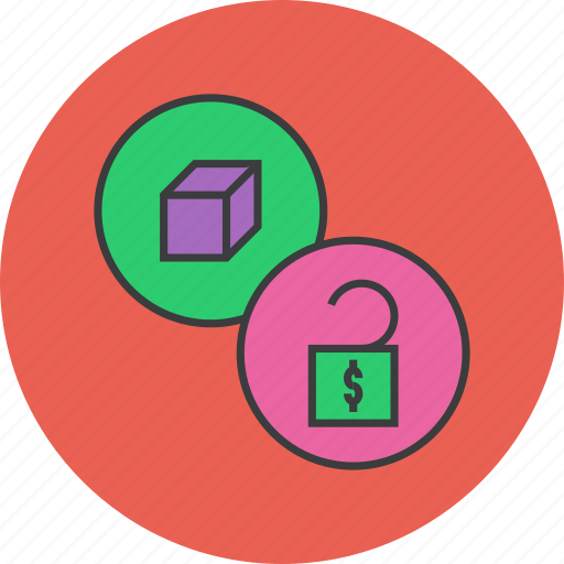 enable, funding, funds, product, release, unlock icon