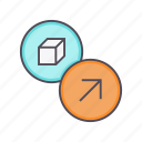 deliver, export, package, product, send, shipment icon