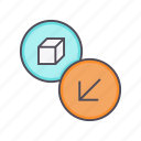 delivery, import, product, receive, shipping, shopping icon